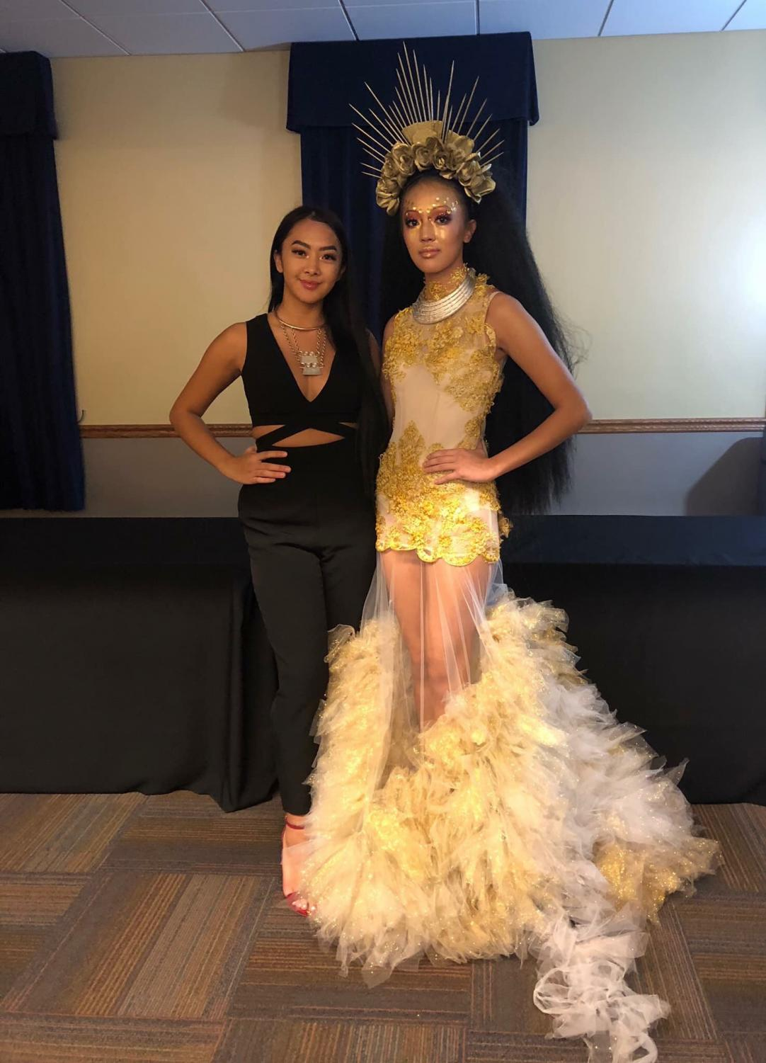 Kylie Xiong (left) and Kayla Xiong (right) together after the Stylus Big Show on November 10, 2018, Kylie was supporting Kayla as she walked down the aisles that Saturday evening.
